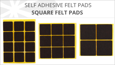 SQUARE SELF ADHESIVE FELT PADS